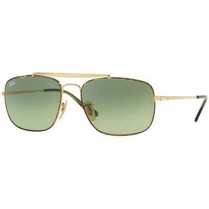Ray-Ban Square Sunglasses W/Green Gradient Lens